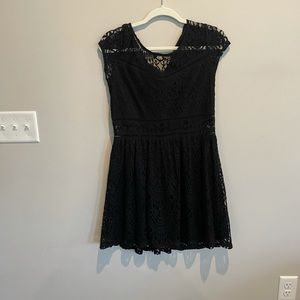 H&M Black Dress with Lace size 12
